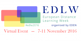 European Distance Learning Week event banner